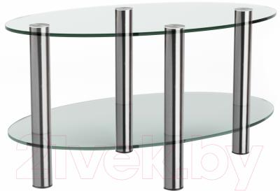Журнальный столик Artglass Вальс (хром)