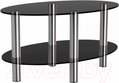 Журнальный столик Artglass Вальс (серый/хром)