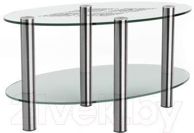 Журнальный столик Artglass Вальс Ромб (хром)