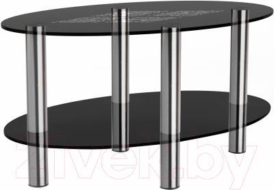 Журнальный столик Artglass Вальс Ромб (серый/хром)