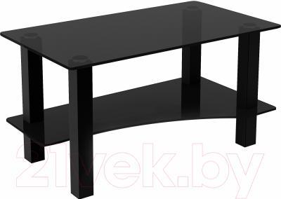 Журнальный столик Artglass Премьер (серый/черный)