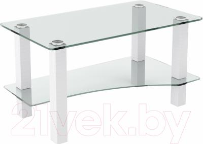Журнальный столик Artglass Премьер (белый)