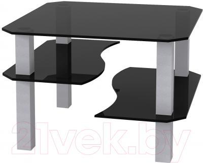 Журнальный столик Artglass Дельта (серый)