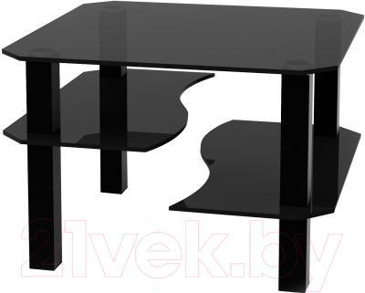 Журнальный столик Artglass Дельта (серый/черный)