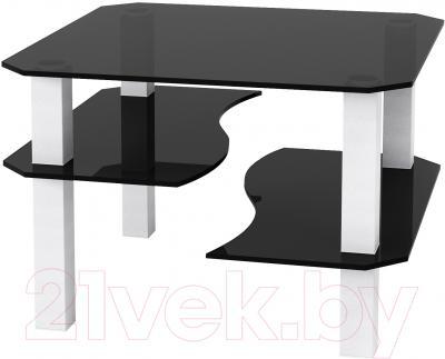 Журнальный столик Artglass Дельта (серый/белый)