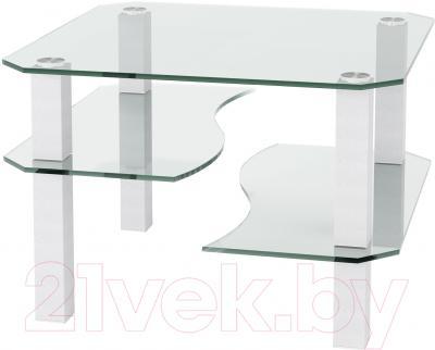 Журнальный столик Artglass Дельта (белый)