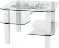 Журнальный столик Artglass Дельта Птица (белый) -
