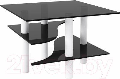 Журнальный столик Artglass Консул (серый/белый)