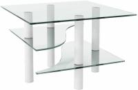 Журнальный столик Artglass Консул (белый) -