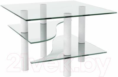 Журнальный столик Artglass Консул (белый)