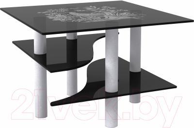Журнальный столик Artglass Консул Птица (серый)