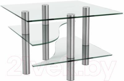 Журнальный столик Artglass Консул (хром)