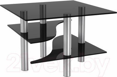 Журнальный столик Artglass Консул (серый/хром)