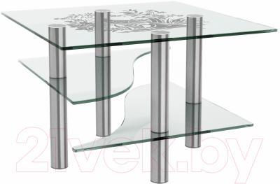 Журнальный столик Artglass Консул Птица (хром)