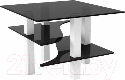 Журнальный столик Artglass Александр (серый/белый)