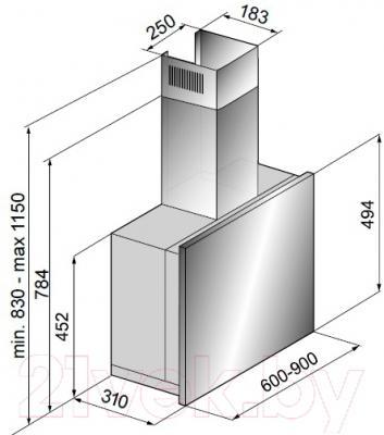 Вытяжка телескопическая Korting KHP6880GW