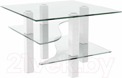 Журнальный столик Artglass Александр (белый)