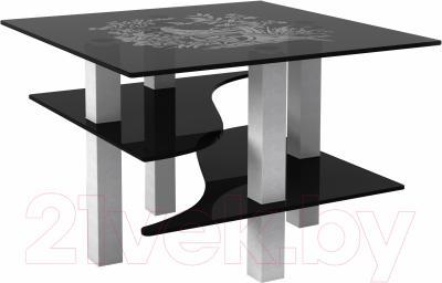 Журнальный столик Artglass Александр Птица (серый)