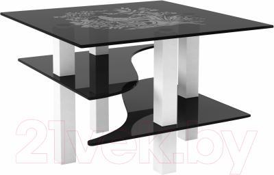 Журнальный столик Artglass Александр Птица (серый/белый)