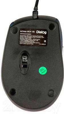 Мышь Dialog Katana MOK-18U (синий)