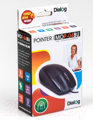 Мышь Dialog Pointer MOP-04BU