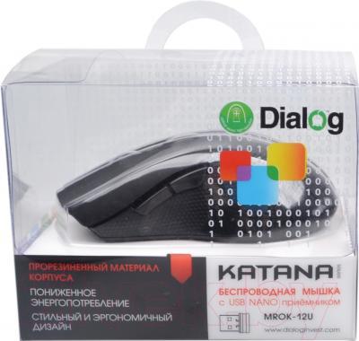 Мышь Dialog Katana MROK-12U (черный/синий)