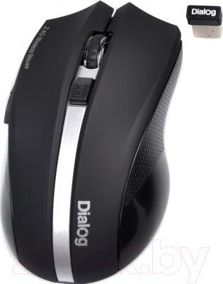 Мышь Dialog Katana MROK-12U (черный/серебристый)