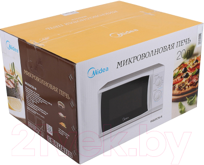 Микроволновая печь Midea MG820CFB-W - коробка