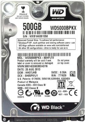 Жесткий диск Western Digital Black 500GB (WD5000BPKX)