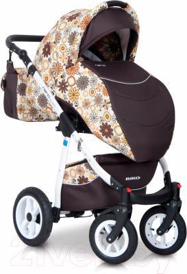 Детская универсальная коляска Riko Nano Flowers 3 в 1 (02/12)
