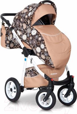 Детская универсальная коляска Riko Nano Flowers 3 в 1 (03/13)