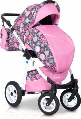 Детская универсальная коляска Riko Nano Flowers 3 в 1 (04/14)
