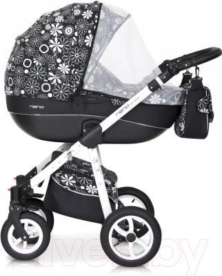 Детская универсальная коляска Riko Nano Flowers 3 в 1 (05/15)