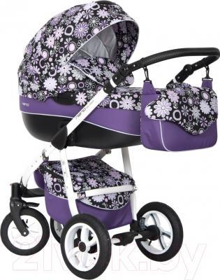 Детская универсальная коляска Riko Nano Flowers 3 в 1 (06/16)