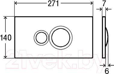 Кнопка для инсталляции Viega Visign 597054 - схема