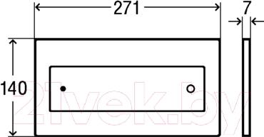 Кнопка для инсталляции Viega Visign 687854 - схема