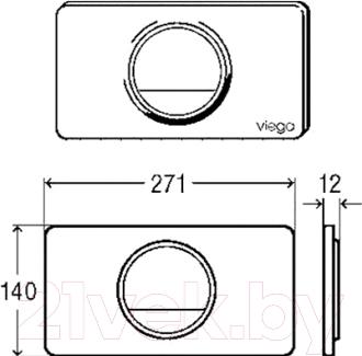 Кнопка для инсталляции Viega Visign 654498 - схема