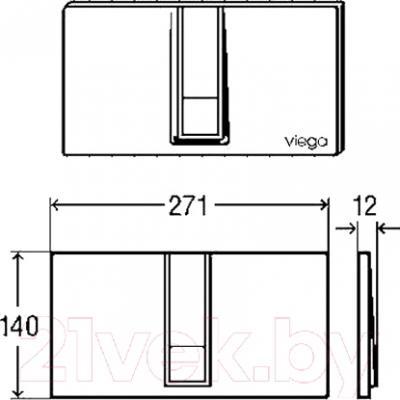 Кнопка для инсталляции Viega Visign 654719 - схема
