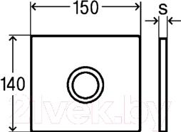 Кнопка для инсталляции Viega Visign 633356 - схема