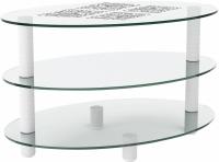 Журнальный столик Artglass Olivia Ромб (белый) -