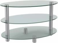 Журнальный столик Artglass Olivia (хром) -