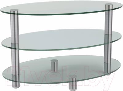 Журнальный столик Artglass Olivia (хром)