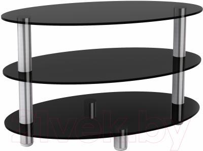 Журнальный столик Artglass Olivia (серый/хром)