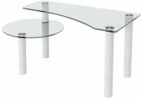 Журнальный столик Artglass Парус (белый) -