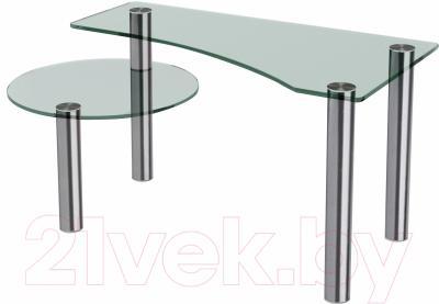 Журнальный столик Artglass Парус (хром)