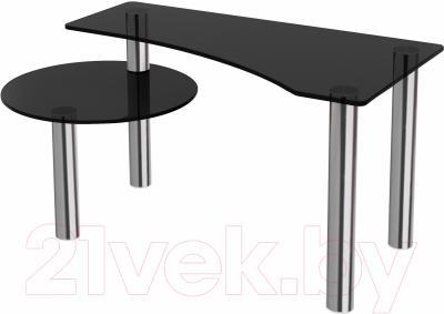 Журнальный столик Artglass Парус (серый/хром)