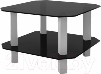 Журнальный столик Artglass Квадро (серый)