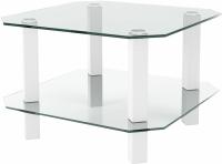 Журнальный столик Artglass Квадро (белый) -