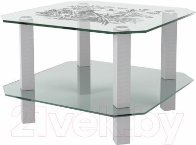 Журнальный столик Artglass Квадро Птица