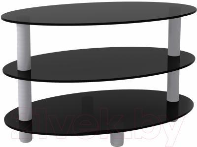 Журнальный столик Artglass Olivia (серый)
